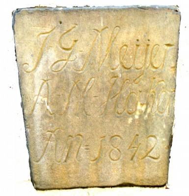 Sandstein am MeyerHaus